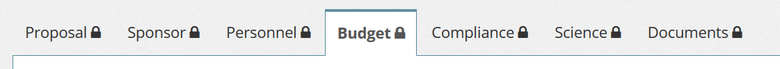screenshot of the budget tab in the ePRF