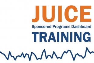 Graphic announcing Juice training and showing a line graph from Juice