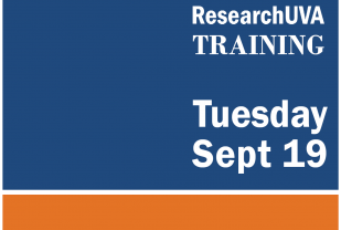 Graphic showing ResearchUVA Sept 19 training date
